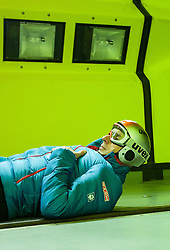 19.10.2013, Klima Wind Kanal, Wien, AUT, OESV, Nordische Kombination Skisprungtraining im Wind Kanal, im Bild Cheftrainer Christoph Eugen // during the Skijump training in the Climatic Wind Tunnel, Austria 20131019. EXPA Pictures © 2013, PhotoCredit: EXPA/ Sascha Trimmel