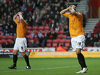 Photo: Lee Earle/Sportsbeat Images.<br /> Southampton v Hull City. Coca Cola Championship. 08/12/2007. Hull's Dean Windass (L) and Caleb Folan look dejected as they fail to score.