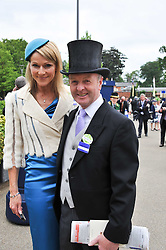 Trainer JONJO O'NEILL and his wife at day 2 of the 2011 Royal Ascot Racing festival at Ascot Racecourse, Ascot, Berkshire on 15th June 2011.