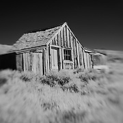 Old Wood Shack - Bodie, CA - Lensbaby - Infrared Black & White