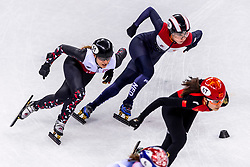 22-02-2018 KOR: Olympic Games day 13, PyeongChang<br /> Short Track Speedskating / Ireen Wust NED , Lara Van Ruijven of the Netherlands, Magdalena Warakomska of Poland