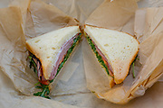 Ham, Cheese & Arugala on sourdough sandwich from Farmer Joe's Marketplace (JILL'$ TREAT) - SF