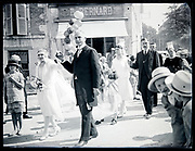 wedding ceremony parade France circa 1930s