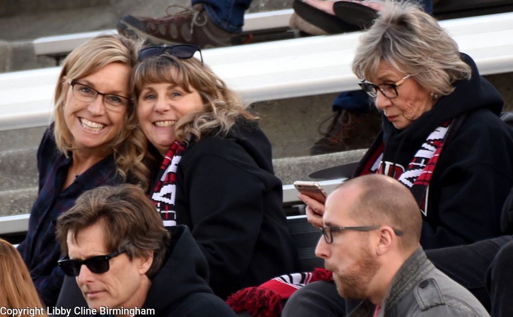 Glendora fans in the first half of a first round CIF soccer prep soccer match against Colony at Citrus College in Glendora, Calif., on Friday, Feb. 16, 2018. (Photo by Libby Cline Birmingham)