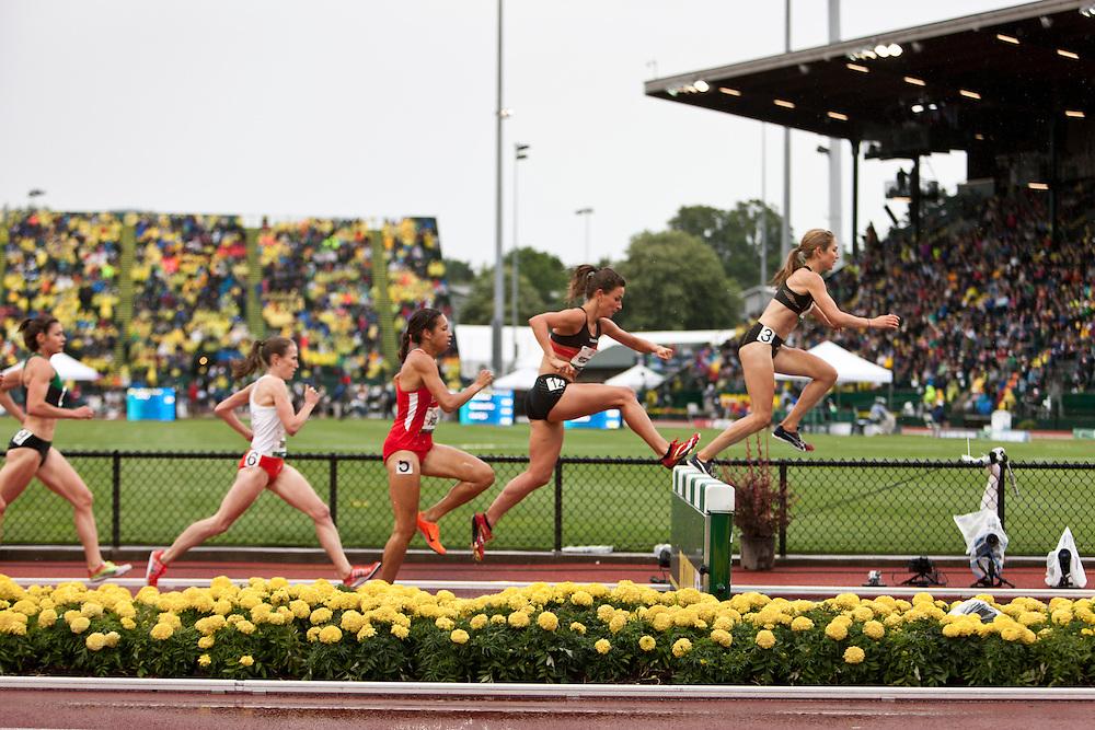 women's steeplechase, Sara Hall, Higginson, Praught,