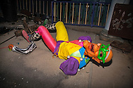 August, 24, 2008, Broken joker,at Six Flags Amusement Park in Eastern New Orleans, destroyed by Hurricane Katrina.