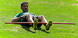 20.07.2014, Parkstadion, Zell am Ziller, AUT, SV Werder Bremen Trainingslager, im Bild Thomas Eichin (Geschaeftsfuehrer Sport SV Werder Bremen) nahm am Training teil // during the Preparation Camp of the German Bundesliga Club SV Werder Bremen at the Parkstadion in Zell am Ziller, Austria on 2014/07/20. EXPA Pictures © 2014, PhotoCredit: EXPA/ Andreas Gumz<br /> <br /> *****ATTENTION - OUT of GER*****
