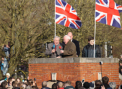 The National Anthem and Auld Lang Syne is sung before the ball is turned up - Mandatory byline: Robbie Stephenson/JMP - 09/02/2016 - FOOTBALL -  - Ashbourne, England - Up'Ards v Down'Ards - Royal Shrovetide Football