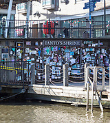 Ianto's Shrine at Mermaid Quay, Cardiff Bay redevelopment, Cardiff, South Wales, UK