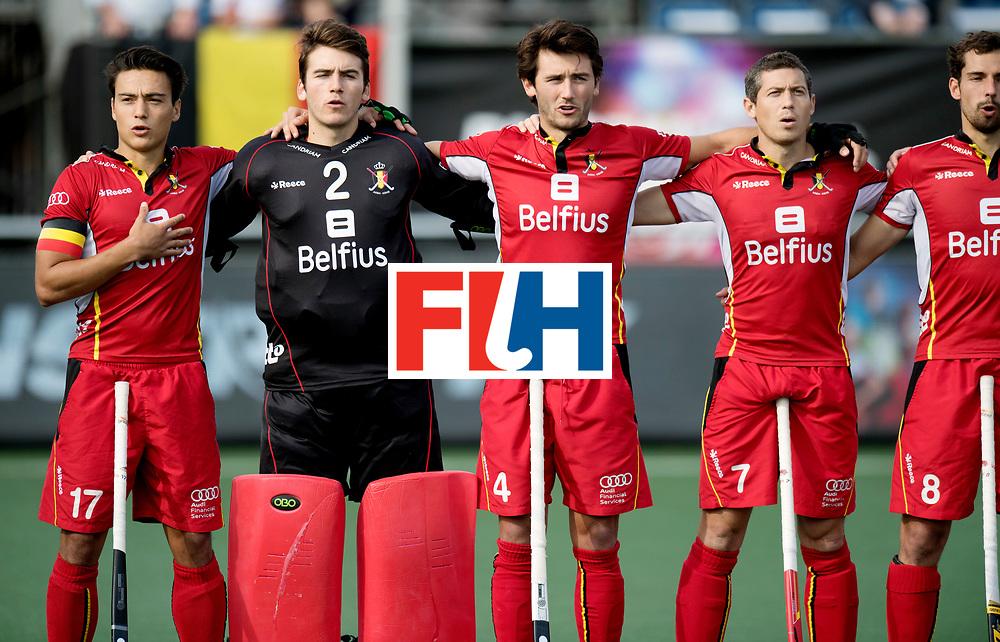 BREDA - Rabobank Hockey Champions Trophy<br /> Australia - Belgium <br /> Photo: Belgium line-up.<br /> COPYRIGHT WORLDSPORTPICS FRANK UIJLENBROEK