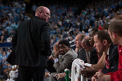 28 December 2006: Rutgers head coach Fred Hill during a 87-48 Rutgers Scarlet Knights loss to the North Carolina Tarheels, in the Dean Smith Center in Chapel Hill, NC.<br />