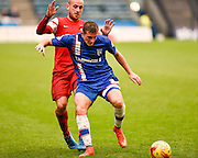 Brennan Dickenson during the Sky Bet League 1 match between Gillingham and Leyton Orient at the MEMS Priestfield Stadium, Gillingham, England on 15 November 2014.