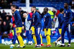Cesar Azpilicueta, Eden Hazard, Ngolo Kante and Antonio Rudiger of Chelsea - Mandatory by-line: Robbie Stephenson/JMP - 17/03/2019 - FOOTBALL - Goodison Park - Liverpool, England - Everton v Chelsea - Premier League