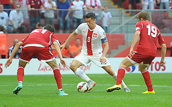 13.06.2015, Nationalstadion, Warschau, POL, UEFA Euro 2016 Qualifikation, Polen vs Greorgien, Gruppe D, im Bild ROBERT LEWANDOWSKI // during the UEFA EURO 2016 qualifier group D match between Poland and Greorgia at the Nationalstadion in Warschau, Poland on 2015/06/13. EXPA Pictures © 2015, PhotoCredit: EXPA/ Newspix/ MAREK BICZYK<br /> <br /> *****ATTENTION - for AUT, SLO, CRO, SRB, BIH, MAZ, TUR, SUI, SWE only*****