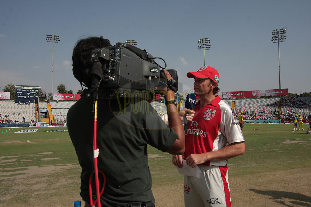 Adam Gilchrist during match 9 of the Indian Premier League ( IPL ) Season 4 between the Kings XI Punjab and the Chennai Super Kings held at the PCA stadium in Mohali, Chandigarh, India on the 13th April 2011..Photo by Anil Dayal/BCCI/SPORTZPICS