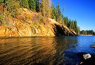 Flathead River in fall. Southeast British Columbia