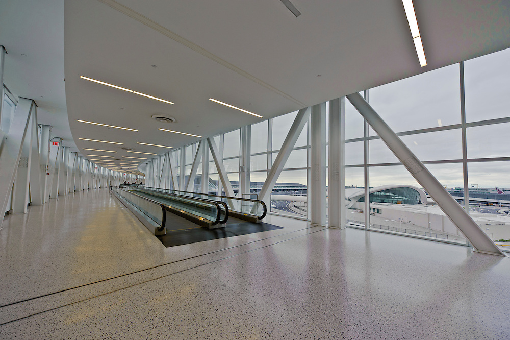Terminal 5, designed by Gensler,  John F. Kennedy International Airport, Queens, New York City, New York, USA