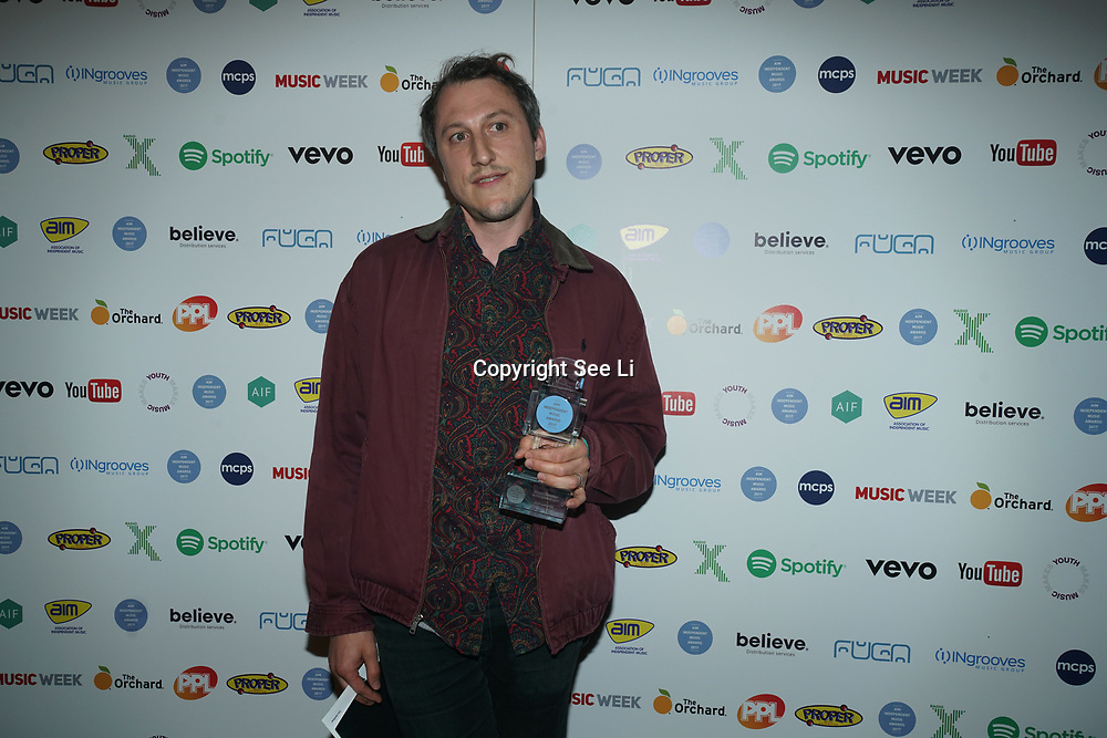 The Brewery,London,England,UK. 5th September 2017. The 2017 AIM Awards took place last night, Tuesday, 5 September, at East London's The Brewery. Organised by the Association of Independent Music to highlight the UK's vibrant independent sector, this year's event was hosted by MistaJam and Clara Amfo and saw performances by British rapper Dave and breakout indie-rockers Public Service Broadcasting, plus a list of winners that included big names, future stars and heroes of the independent music community.