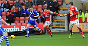 James Jones, Callum Camps during the Sky Bet League 1 match between Crewe Alexandra and Rochdale at Alexandra Stadium, Crewe, England on 6 February 2016. Photo by Daniel Youngs.