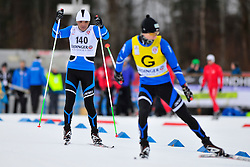 KANAFIN Kairat Guide: KOLOMEYETS Dmitriy, KAZ at the 2014 IPC Nordic Skiing World Cup Finals - Sprint