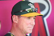 ANAHEIM, CA - AUGUST 29:  Manager Bob Melvin #6 of the Oakland Athletics talks to the media before the game against the Los Angeles Angels of Anaheim at Angel Stadium on Saturday, August 30, 2014 in Anaheim, California. The Angels won the game in a 2-0 shutout. (Photo by Paul Spinelli/MLB Photos via Getty Images) *** Local Caption *** Bob Melvin