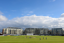 A general view of the County Ground prior to play between Gloucestershire and Glamorgan - Mandatory byline: Dougie Allward/JMP - 07966386802 - 22/09/2015 - Cricket - County Ground -Bristol,England - Gloucestershire CCC v Glamorgan CCC - LV=County Championship