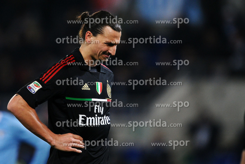 01.02.2012, Olympiastadion, Rom, ITA, Serie A, Lazio Rom vs AC Milan, 21. Spieltag, im Bild Zlatan Ibrahimovic Milan, // during the football match of Italian 'Serie A' league, 21th round, between Lazio Rom and AC Milan at Olympic Stadium, Rome, Italy on 2012/02/01. EXPA Pictures © 2012, PhotoCredit: EXPA/ Insidefoto/ Andrea Staccioli..***** ATTENTION - for AUT, SLO, CRO, SRB, SUI and SWE only *****