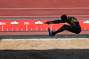 Shandell TAYLOR competes in the Men's Long Jump during the Muller British Athletics Championships at Alexander Stadium, Birmingham, United Kingdom on 24 August 2019.