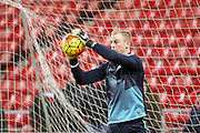 Manchester City goalkeeper Joe Hart  during the Barclays Premier League match between Sunderland and Manchester City at the Stadium Of Light, Sunderland, England on 2 February 2016. Photo by Simon Davies.