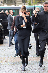 Bella Hadid attend Peter Lindbergh's funerals at Eglise Saint-Sulpice in Paris, France on September 24, 2019. Photo by Nasser Berzane/ABACAPRESS.COM