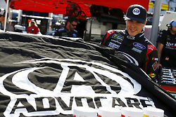 April 13, 2018 - Bristol, Tennessee, United States of America - April 13, 2018 - Bristol, Tennessee, USA: Trevor Bayne (6) climbs aboard his racecar before qualifying for the Food City 500 at Bristol Motor Speedway in Bristol, Tennessee. (Credit Image: © Chris Owens Asp Inc/ASP via ZUMA Wire)