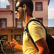 Mobile. #czechrepublic #prag #praha #prague #public #publictransport #phone #smart #portrait #latergram #sun #light #yellow