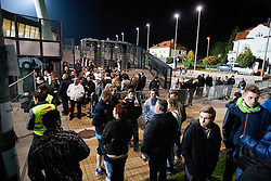 Fans after the FIFA World Cup 2014 Group E qualification match between Slovenia and Norway on October 11, 2013 in Stadium Ljudski vrt, Maribor, Slovenia. (Photo by Urban Urbanc / Sportida)