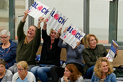 26-10-2019 NED: Talentteam Papendal - Sliedrecht Sport, Ede<br /> Round 4 of Eredivisie volleyball - Support for Talent Team, fan