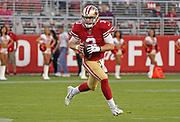 San Francisco 49ers quarterback C.J. Beathard (3) during an NFL football game, Thursday, Aug. 29, 2019, in Santa Clara, Calif. (Dylan Stewart/Image of Sport)