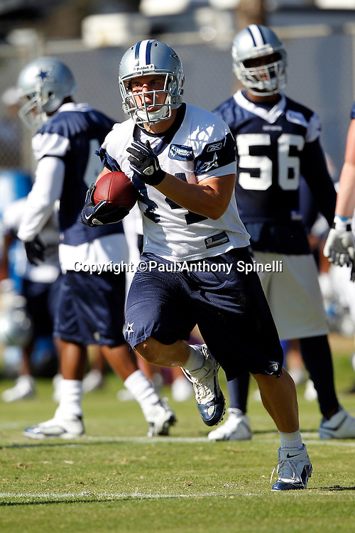 Dallas Cowboys rookie fullback Chris Gronkowski (44) runs the ball during NFL football training camp on Wednesday, August 18, 2010 in Oxnard, California. (©Paul Anthony Spinelli)