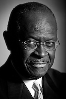 WASHINGTON, DC:  Republican Presidential Candidate Herman Cain stands for a portrait at the Cosmos Club in Washington DC, Thursday, November  3, 2011. (Photo by Melina Mara/The Washington Post) . ...
