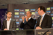 Scottish FA President Campbell Ogilvie  with Dundee United's number 11 ball after they were drawn against Airdrie United - William Hill Scottish Cup 4th round draw - Interim WBO world lightweight champion Ricky Burns and Kristof Fahy, Chief Marketing Officer at William Hill, conduct the draw at Hampden Park.. .- © David Young -.5 Foundry Place - .Monifieth - .Angus - .DD5 4BB - .Tel: 07765 252616 - .email: davidyoungphoto@gmail.com - .http://www.davidyoungphoto.co.uk