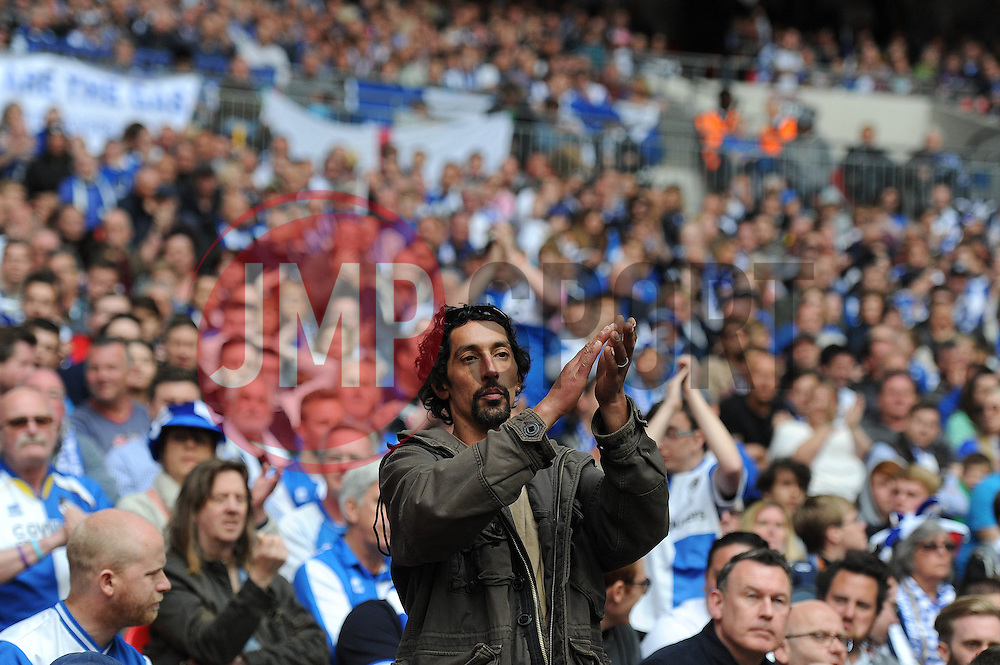 Bristol Rovers fan - Photo mandatory by-line: Dougie Allward/JMP - Mobile: 07966 386802 - 17/05/2015 - SPORT - football - London - Wembley Stadium - Bristol Rovers v Grimsby Town - Vanarama Conference Football