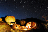 Sky with stars at Mowani Mountain Lodge, Damaraland, Kunene Region, Namibia