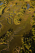 Aerial view of marsh Mount Pleasant, SC.