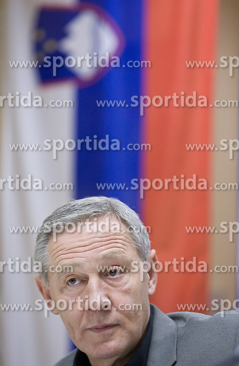 Head coach Zvonimir Noka Serdarusic at press conference of Slovenian men National Handball Team, on October 2, 2009, RZS, Ljubljana, Slovenija. (Photo by Vid Ponikvar / Sportida)
