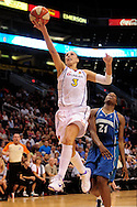 June 10, 2010; Phoenix, AZ, USA; Phoenix Mercury guard Diana Taurasi lays up the ball against Minnesota Lynx during the second half at US Airways Center.  The Mercury defeated the Lynx 99-88.  Mandatory Credit: Jennifer Stewart-US PRESSWIRE