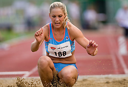 Snezana Rodic during triple jump at Slovenian National Championships in athletics 2010, on July 17, 2010 in Velenje, Slovenia. (Photo by Vid Ponikvar / Sportida)