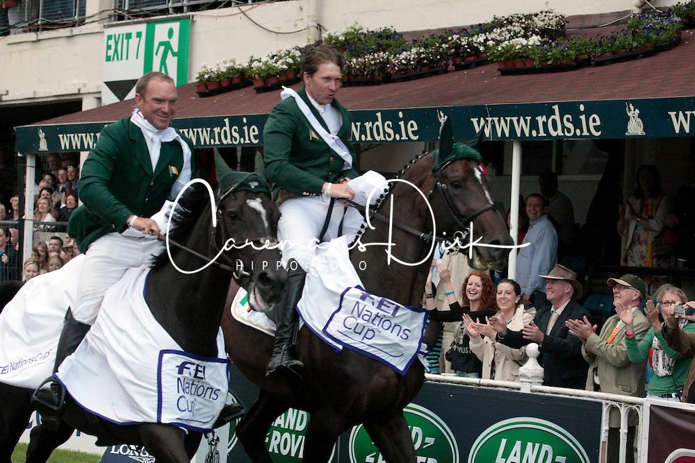 Team Ireland: <br /> McMahon Clem - Pacino<br /> Moloney Richard - Ahorn vd Zuuthoeve<br /> Kerins Darragh - Lisona<br /> O' Connor Cian - Blue Loyd<br /> Dublin Horse Show 2012<br /> © Hippo Foto - Beatrice Scudo