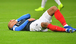 France's Kylian Mbappe wounded during France v Uruguay friendly football match at the Stade de France in Saint-Denis, suburb of Paris, France on November 20, 2018. France won 1-0. Photo by Christian Liewig/ABACAPRESS.COM
