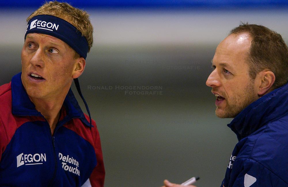 04-01-2003 NED: Europees Kampioenschappen Allround, Heerenveen<br /> 1500 m / Rintje Ritsma en Gerard Kemkers