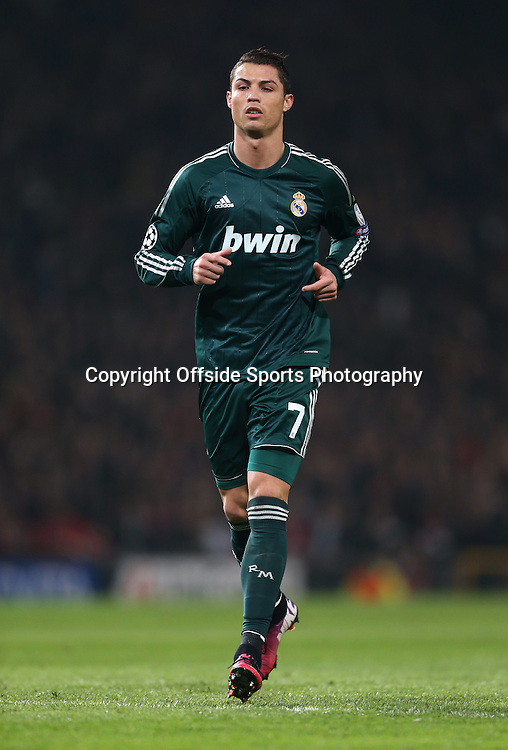 5th March 2013 - UEFA Champions League - Last 16 (2nd Leg) - Manchester United vs. Real Madrid - Cristiano Ronaldo of Madrid - Photo: Simon Stacpoole / Offside.