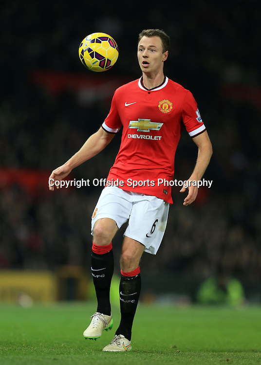 11th February 2015 - Barclays Premier League - Manchester United v Burnley - Jonny Evans of Man Utd - Photo: Simon Stacpoole / Offside.