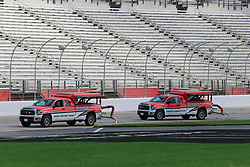 February 22, 2019 - Hampton, GA, U.S. - HAMPTON, GA - FEBRUARY 22: The Toyota Tundra Track Drying Team works on the track prior to first practice for the MENCS Folds of Honor QuikTrip 500 race on February 22, 2019 at the Atlanta Motor Speedway in Hampton, GA.  (Photo by David John Griffin/Icon Sportswire) (Credit Image: © David J. Griffin/Icon SMI via ZUMA Press)